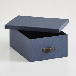 BIGSOBOX スウェーデン生まれの衣類収納ボックス ULRIKA(2個組) (ウ)ネイビー