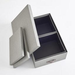 BIGSOBOX スウェーデン生まれの衣類収納ボックス INGE(3個組) 使わないときはひとつにまとめられます。