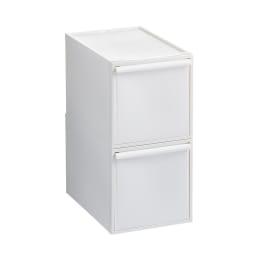 Carre/カレ ホワイトシステム衣類収納 深型2個セット