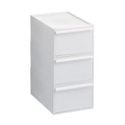 Carre/カレ ホワイトシステム衣類収納 中型3個セット