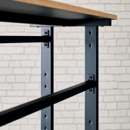 HS Brooklyn/エイチエスブルックリン 上下棚付頑丈ハンガー シングル 幅120 ハンガーバーは洋服の丈に合わせて、約17cm間隔で3段階に高さが調節できます。