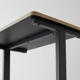 HS Brooklyn/エイチエスブルックリン 上下棚付頑丈ハンガー シングル 幅120 棚板裏は補強バー入りの頑丈構造。折り畳んだ衣類やズボン、スラックスなどもまとめて収納。