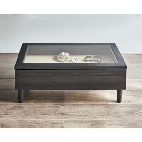 Afeeche/アフィーチェ アクセサリー収納付きローテーブル 幅80cm 写真