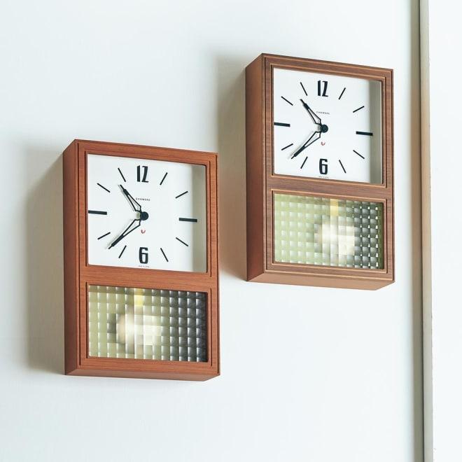 CHAMBRE/シャンブル 振り子時計 大きな文字盤に並んだ立体的な数字が特徴