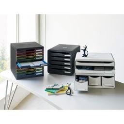 EXACOMPTA エグザコンタ オーストリア製ファイルケース 無地5段 ※お届けの商品は真ん中です。