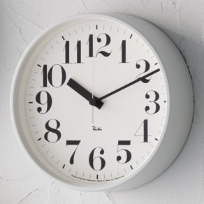 RIKI CLOCK/リキクロック電波時計  径20.5cm スチールフレーム 写真