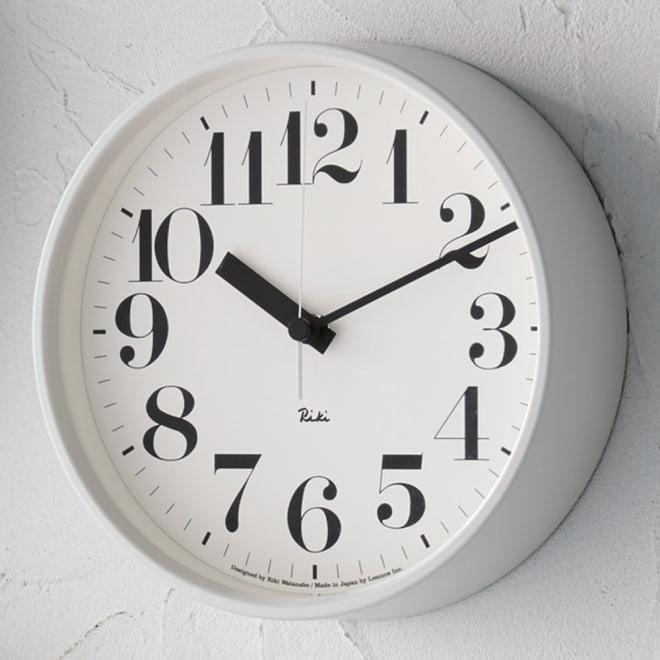 RIKI CLOCK/リキクロック電波時計  径20.5cm スチールフレーム ホワイト