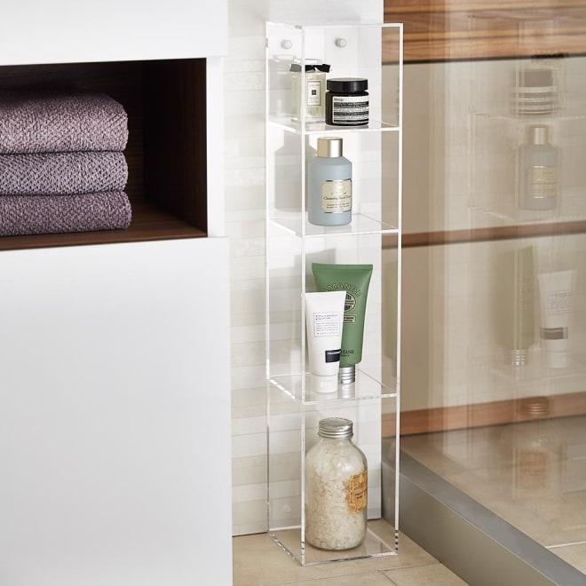 Klar/クラール アクリル製パウダールーム収納 幅13cm 床置きして隙間収納としても使用できます。※画像は幅13cm