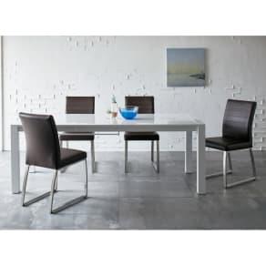 Steady 伸長式ダイニングテーブル 幅140cm・伸長時200cm 写真