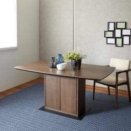 Grigia/グリージア 収納庫付きダイニングテーブル 幅150cm 幅150cmテーブル イメージ画像 ※本ページではテーブルのみの販売です。