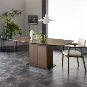 Grigia/グリージア 収納庫付きダイニングテーブル 幅170cm 写真