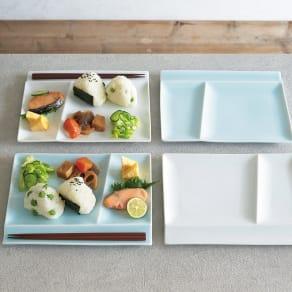 お箸が置けるパレット皿 幅24cm 4枚組 写真