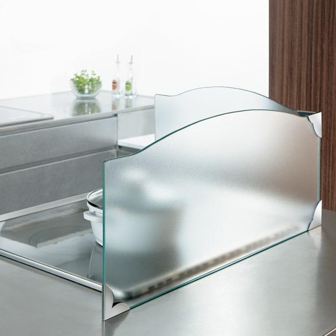 ガラスのコーナーレンジガード コンロ幅60cm用 フロストタイプ
