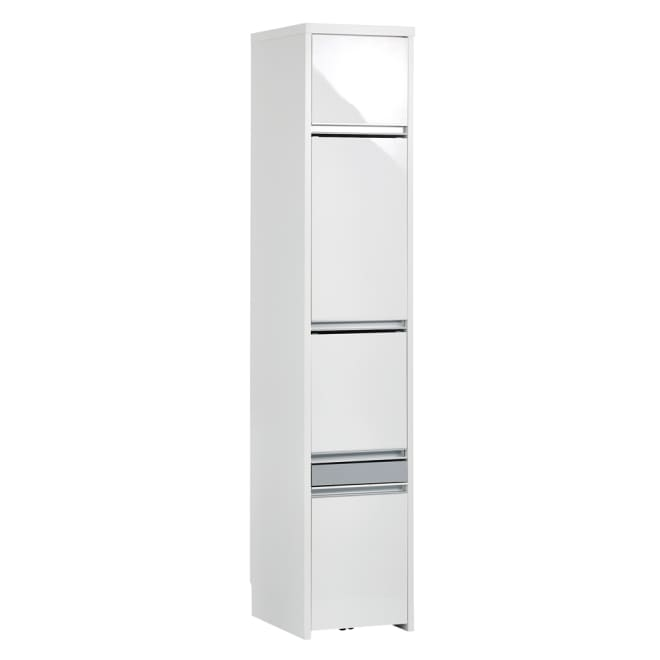 Ymir/ユミル 隠せる家電収納 幅40奥行45cm高さ178cm (ア)ホワイト