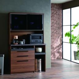 Boulder/ボルダー 石目調天板キッチンシリーズ ボード 幅120cm 奥行50cm ウォルナット 機能的な設計で、キッチンのあれこれがまとめて片付きます。