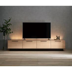 Glint/グリント LED照明付きテレビ台 幅240cm 写真