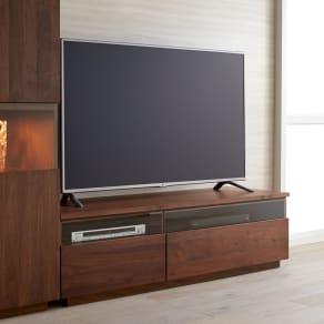 ウォルナット天然木テレビ台 幅150cm 写真