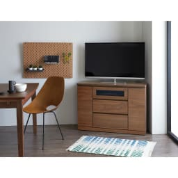 Volga/ヴォルガ コーナーテレビ台 幅100cm 高さ70cm コーナーTV台幅100高70