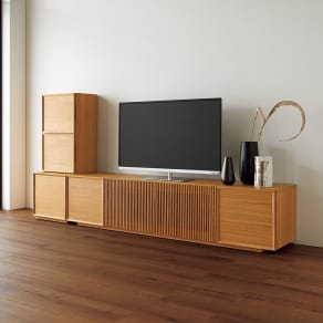 E&W/イーアンドダブリュ 天然木テレビボード テレビボード 幅180.5 写真