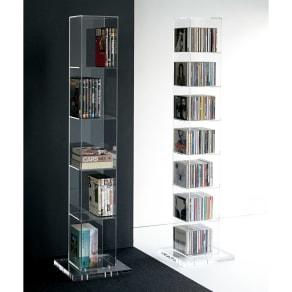 クリアーアクリルシリーズ CDタワー収納 写真