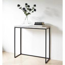 Marbrim/マーブリム 大理石調テーブルシリーズ コンソール スリム設計だから、廊下や玄関周りにも置きやすく。