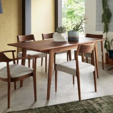 EDDA/エッダ 北欧スタイル 伸長式ダイニングテーブル 幅135~170cm