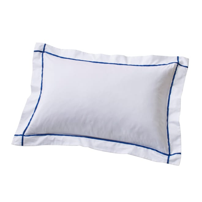 ホテル仕様超長綿サテンカバーリング Ciel/シエル ピローケース(同色2枚組) ブルー