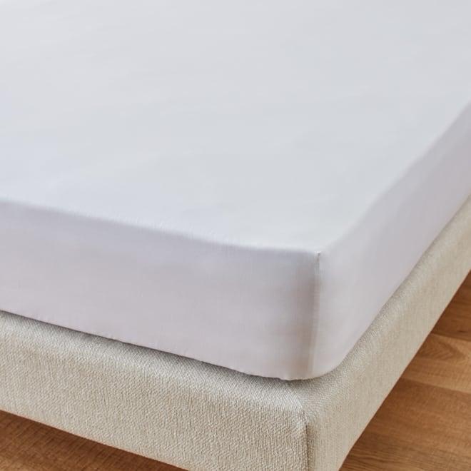 ホテル仕様超長綿サテンカバーリング Ciel/シエル ベッドシーツ(ボックスシーツ) ホワイト