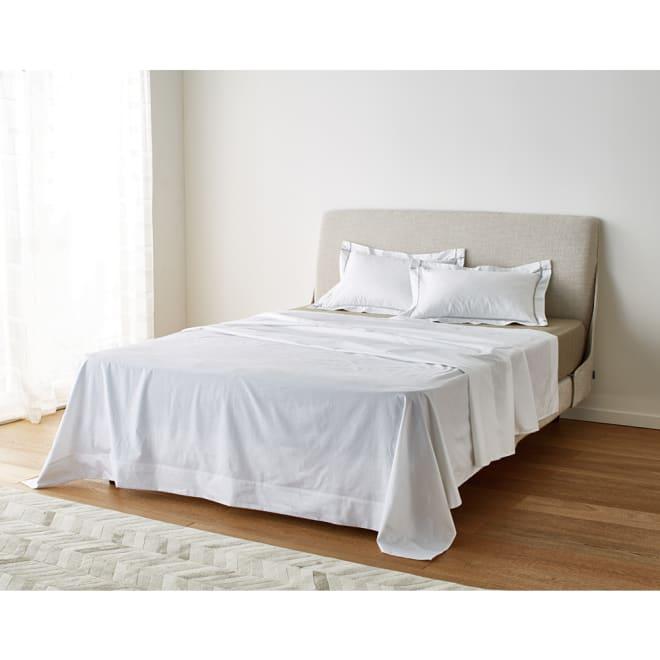 ホテル仕様超長綿サテンカバーリング Ciel/シエル マルチシーツ(フラットシーツ) ホワイト
