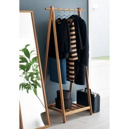 Incery(インサリー) 天然木製ハンガーラック 幅80cm ナチュラル 木目の美しいホワイトアッシュ材を贅沢に使用したA型のコートスタンドです。