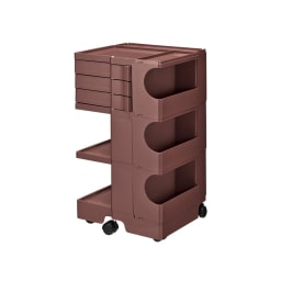 【台数限定208台】Boby Wagon/ボビーワゴン3段3トレイ HOUSE STYLING別注カラー・ココアブラウン[B-LINE・ビーライン/デザイン:ジョエ・コロンボ] お届けの商品はこちらです。