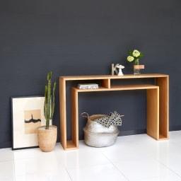 SHOJI/ショージ オケージョナルテーブル 幅116cm高さ72cm リビングテーブル/サイドテーブル[abode・アボード/デザイン:ウー・バホリヨディン] [コーディネート例]ナチュラル