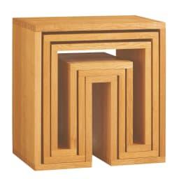 SHOJI/ショージ ネストテーブル リビングテーブル/サイドテーブル[abode・アボード/デザイン:ウー・バホリヨディン] 入れ子式で、コンパクトに収納もできます。