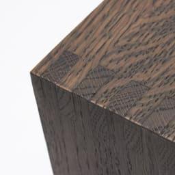 SHOJI/ショージ ネストテーブル リビングテーブル/サイドテーブル[abode・アボード/デザイン:ウー・バホリヨディン] ダークブラウンも、木目が見えるオイル塗装仕上げです