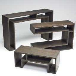 SHOJI ショージ オケージョナルテーブル 3点セット(コンソール・リビングテーブル)[abode(アボード)/デザイン:ウー・バホリヨディン] 大型コンソールデスク、高さのあるコンソールテーブル、小型のリビングテーブルのセットです。