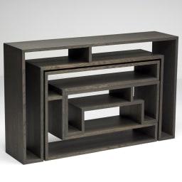 SHOJI ショージ オケージョナルテーブル 3点セット(コンソール・リビングテーブル)[abode(アボード)/デザイン:ウー・バホリヨディン] 収納時