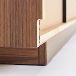 AlusStyle/アルススタイル リビングシリーズ テレビ台 幅150.5cm 背面は幅木カット仕様で壁にぴったり設置可能です。