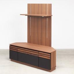 AlusStyle/アルススタイル  リビングシリーズ バックパネル付きコーナーテレビ台 幅119.5cm お届けはこちらの、コーナーテレビ台幅119.5cm+専用パネルです。
