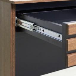 AlusStyle/アルススタイル 薄型ホームオフィス デスク 幅100.5cm 引出には、開閉滑らかなフルスライドレールを使用しています。