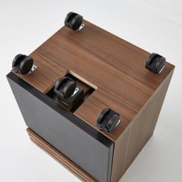 Alus Style/アルススタイル コンパクトホームオフィス サイドワゴン 幅42.5cm キャスターは5個付き。5個にすることで安定感が増し倒れにくく設計しています。
