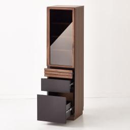 Alus Style/アルススタイル コンパクトホームオフィス ブックシェルフ幅40.5cm 引出3杯付きで収納力もたっぷり。