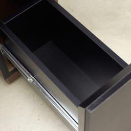 AlusStyle/アルススタイル リビングシリーズ ドレッサー 幅65.5cm 引出には、開閉滑らかなフルスライドレールを使用しています。