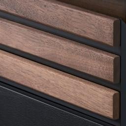 AlusStyle/アルススタイル カウンター下収納庫 2枚扉 幅80cm高さ84.5cm 【天然木格子】木の質感が映えるシャープな横格子。