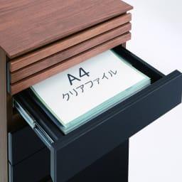 AlusStyle/アルススタイル ルーター収納書類チェスト B4タイプ高さ120cm こちらのタイプはA4クリアファイルの収納にピッタリの引き出し付き。書類や学校のプリントなどの分類収納に。