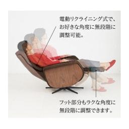 電動リクライニングパーソナルチェア 1人掛けソファー  オールレザー調タイプ