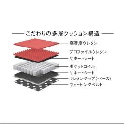Assorti/アソルティ レザーソファ こだわりの多層クッション構造