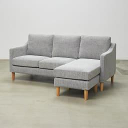 Juste/ジュスト コンパクトカバーリングソファ 3人掛け オットマンをつけて使用するときは、座面を入れ替えより快適に。
