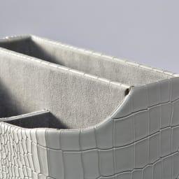 クロコ調リビング収納シリーズ リモコン収納・リビング雑貨スタンド 内側は、収納物に優しい起毛素材。