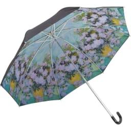名画フリルジャンプ傘&折りたたみ傘セット 折りたたみ傘 (ウ)ゴッホ(ホワイトローズ)