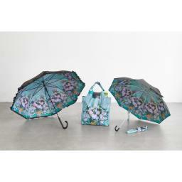 名画フリルジャンプ傘&折りたたみ傘セット (ウ)ゴッホ(ホワイトローズ) 別売りで同柄のエコバッグもご用意しております。